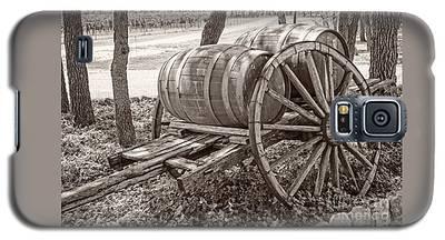 Wooden Wine Barrels On Cart Galaxy S5 Case