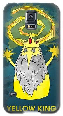Yellow King True Detective Adventure Time Galaxy S5 Case
