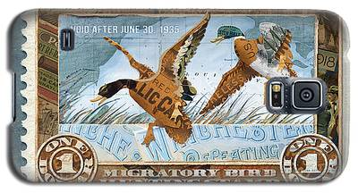1934 Hunting Stamp Collage Galaxy S5 Case