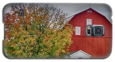 Autumn Red Barn Galaxy S5 Case