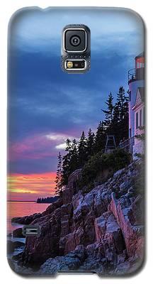 Bass Harbor Head Lighthouse At Twilight Galaxy S5 Case