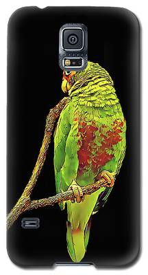 Colorful Parrot Galaxy S5 Case