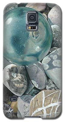 Glass Float And Beach Rocks Galaxy S5 Case