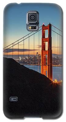 Golden Gate Christmas Glow Galaxy S5 Case