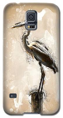 Heron On Post Galaxy S5 Case
