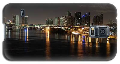 Miami Lights At Night Galaxy S5 Case