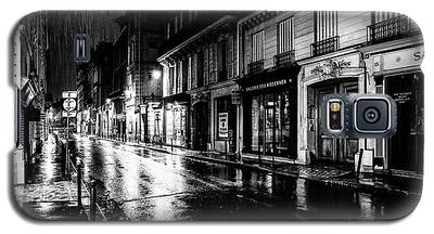 Paris At Night - Rue Saints Peres Galaxy S5 Case
