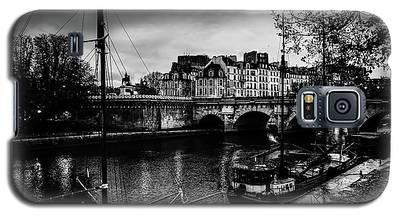 Paris At Night - Seine River Towards Pont Neuf Galaxy S5 Case
