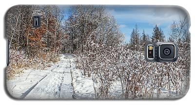 Snowy Boardwalk Galaxy S5 Case