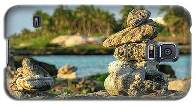Stacked Rocks On Mexico Beach Galaxy S5 Case
