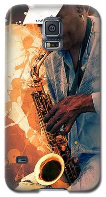 Street Sax Player Galaxy S5 Case