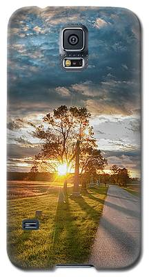 Sunset On The Field Galaxy S5 Case