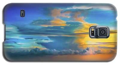 Thunder At Sun Set Galaxy S5 Case