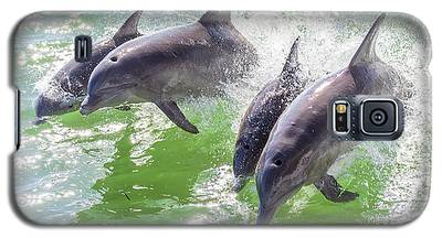 Wake Surfing Dolphin Family Galaxy S5 Case