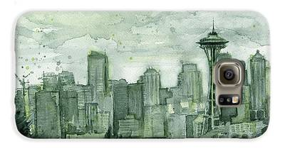 Seattle Skyline Galaxy S6 Cases