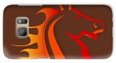Horse Digital Art Galaxy S7 Cases