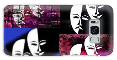 Galaxy Case featuring the digital art  Thalia And Melpomene by Ericamaxine Price
