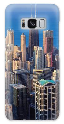 Chicago Aerial View Galaxy Case
