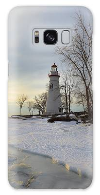 Marblehead Lighthouse Winter Sunrise Galaxy Case
