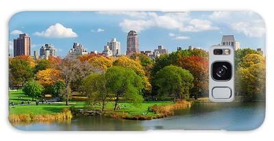 New York City Manhattan Central Park Panorama Galaxy Case
