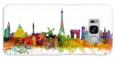 Paris France Skyline Galaxy Case