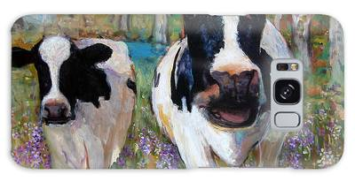 Up Front Cows Galaxy Case