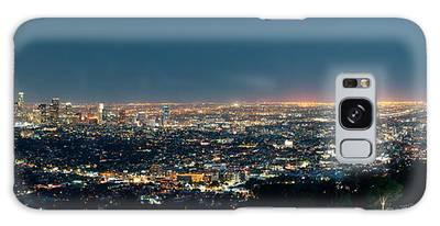 Los Angeles At Night Galaxy Case