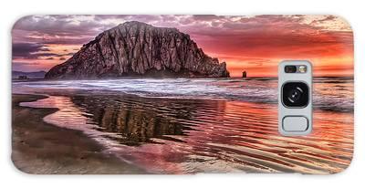 Crimson Sunset Galaxy Case