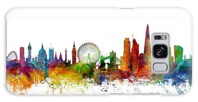 London England Skyline Galaxy Case