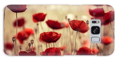Poppies Galaxy Cases