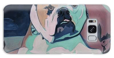 A Bulldog In Love Galaxy Case