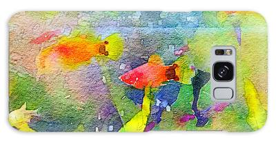Abstract Goldfish Fish Bowl Aquarium Watercolor 1 Galaxy Case