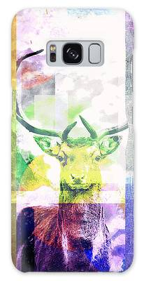 Abstract Nature Deer Portrait Galaxy Case