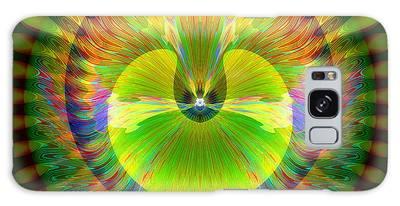 Galaxy Case featuring the digital art Afternoon Sunrise by Visual Artist Frank Bonilla