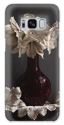Amaryllis Paintings Galaxy Cases