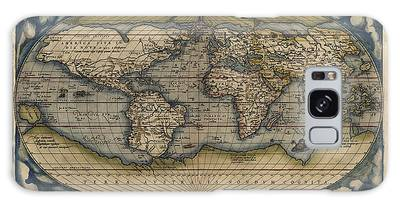 Map Of The World Drawings Galaxy Cases