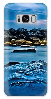 Galaxy Case featuring the photograph Ashbridges Bay Toronto Canada Breakwall 4 by Brian Carson