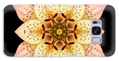 Asiatic Lily Flower Mandala Galaxy Case