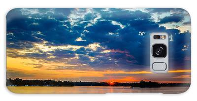 August Sunset Over Lake Nagawicka Galaxy Case