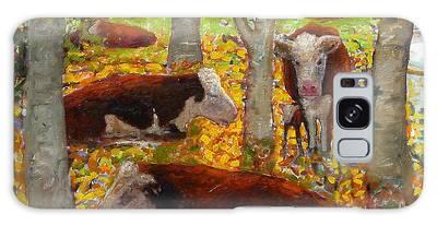 Autumn Cows Galaxy Case