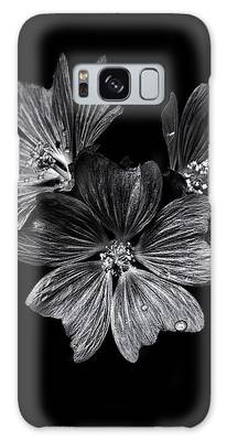 Galaxy Case featuring the photograph Backyard Flowers In Black And White 11 After The Storm by Brian Carson