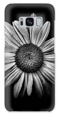 Galaxy Case featuring the photograph Backyard Flowers In Black And White 13 by Brian Carson