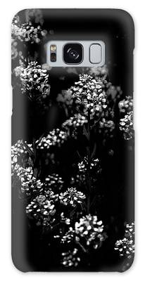 Galaxy Case featuring the photograph Backyard Flowers In Black And White 33 by Brian Carson