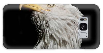 Bald Eagle Looking Skyward Galaxy Case