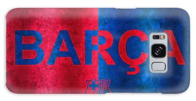 Barcelona Football Club Poster Galaxy Case