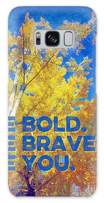 Be Bold Be Brave Be You Blazing Ginkgo Tree Galaxy Case