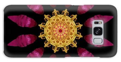 Beach Rose Iv Flower Mandala Galaxy Case