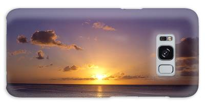 Beautiful Tropical Island Sunset On The Beach In Guam Galaxy Case