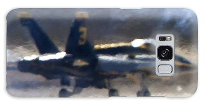 Blue Angels Number 3 On The Runway Galaxy Case