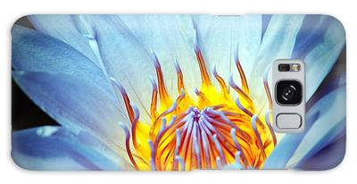 Galaxy Case featuring the photograph Blue Lotus by Cynthia Guinn
